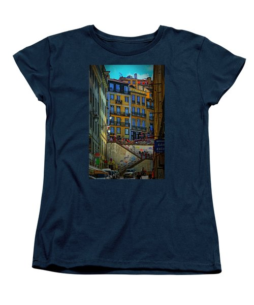 Up The Stairs - Lisbon Women's T-Shirt (Standard Cut) by Mary Machare