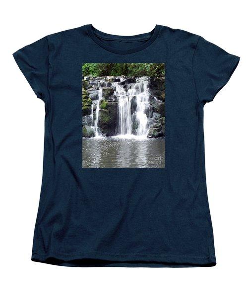 Women's T-Shirt (Standard Cut) featuring the photograph Upper Beaver Falls by Chalet Roome-Rigdon