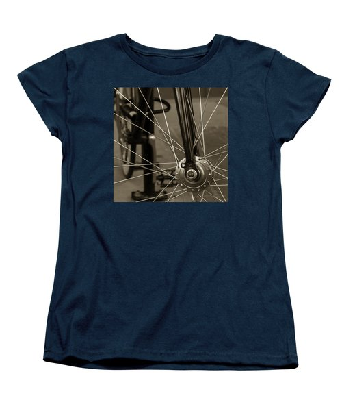 Urban Spokes In Sepia Women's T-Shirt (Standard Cut) by Steven Milner