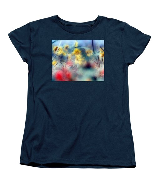 Women's T-Shirt (Standard Cut) featuring the photograph Urban Wildflowers by Michael Hoard