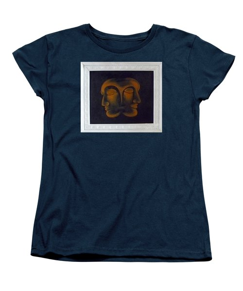 Women's T-Shirt (Standard Cut) featuring the painting Us by Fei A