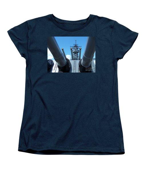 Women's T-Shirt (Standard Cut) featuring the photograph Usa Strength Uss Missouri by Brigitte Emme
