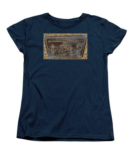 Women's T-Shirt (Standard Cut) featuring the photograph U.s.s. San Francisco Memorial Land's End by Bill Owen