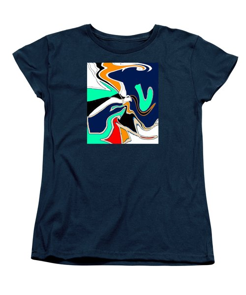 Original Contemporary Art Painting V. Is For Victory Women's T-Shirt (Standard Cut) by RjFxx at beautifullart com