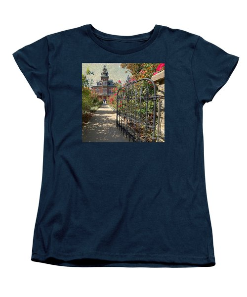 Vaile Landscape And Gate Women's T-Shirt (Standard Cut) by Liane Wright