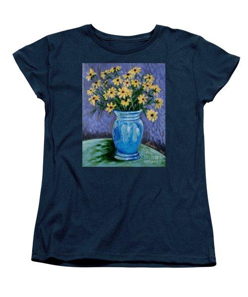 Van Gogh-ish Flowers In A Vase Women's T-Shirt (Standard Cut)