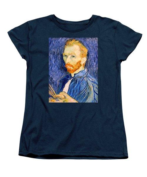 Women's T-Shirt (Standard Cut) featuring the photograph Van Gogh On Van Gogh by Cora Wandel