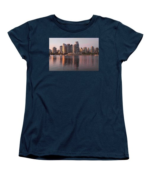 Women's T-Shirt (Standard Cut) featuring the photograph Vancouver Bc Waterfront Condominiums by JPLDesigns