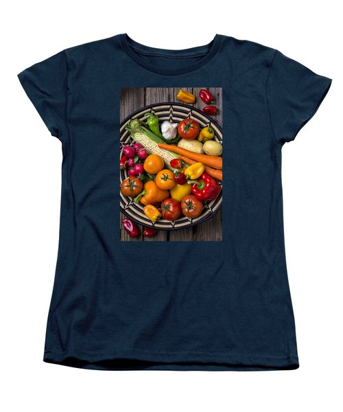 Vegetable Basket    Women's T-Shirt (Standard Cut) by Garry Gay