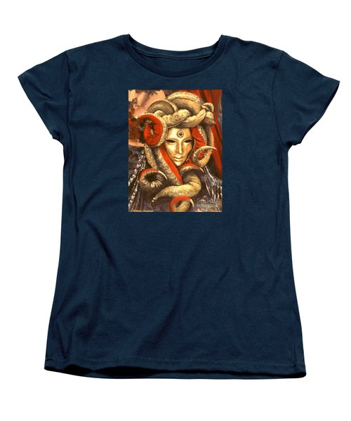 Women's T-Shirt (Standard Cut) featuring the painting Venetian Mystery Mask by Michael Swanson