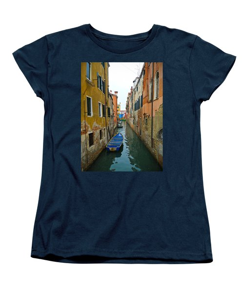 Women's T-Shirt (Standard Cut) featuring the photograph Venice Canal by Silvia Bruno