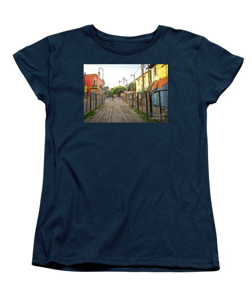 Women's T-Shirt (Standard Cut) featuring the photograph Vias De Caminito by Silvia Bruno