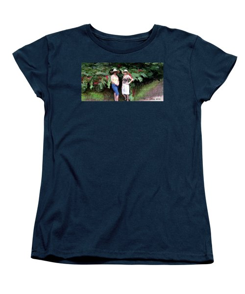 Women's T-Shirt (Standard Cut) featuring the painting Victoria And Friend by Bruce Nutting