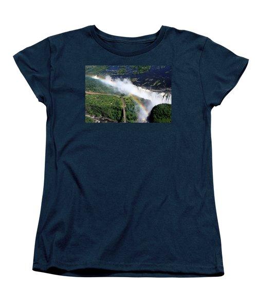 Rainbow Over Victoria Falls  Women's T-Shirt (Standard Cut) by Aidan Moran