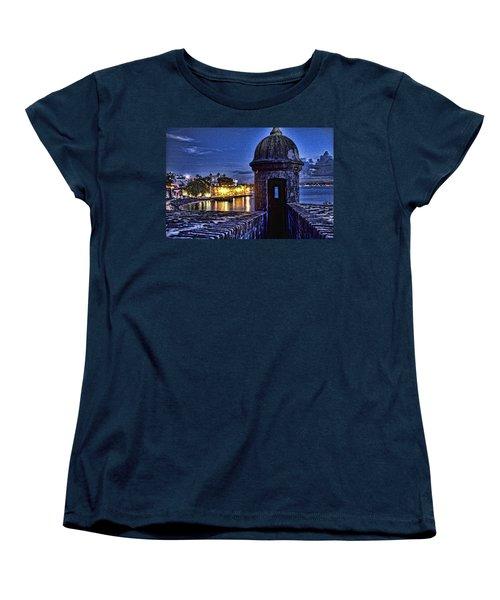 Viejo San Juan En La Noche Women's T-Shirt (Standard Cut) by Daniel Sheldon