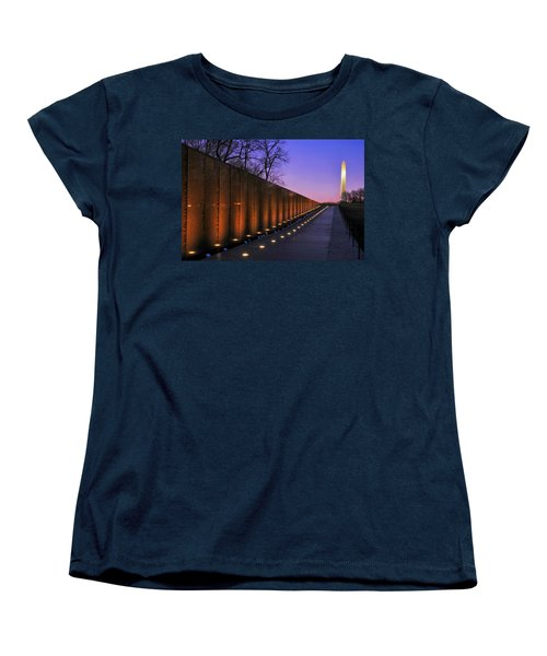 Vietnam Veterans Memorial At Sunset Women's T-Shirt (Standard Cut) by Pixabay