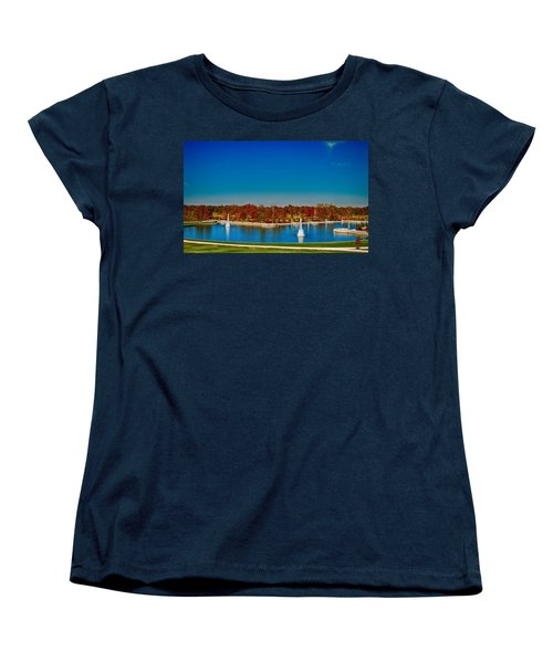 Women's T-Shirt (Standard Cut) featuring the photograph View From Art Hill Forest Park Missouri by Peggy Franz