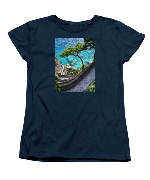 View From Capri.italy Women's T-Shirt (Standard Cut) by Jennie Breeze