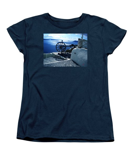 Women's T-Shirt (Standard Cut) featuring the photograph View From Santorini Island Greece by Colette V Hera  Guggenheim