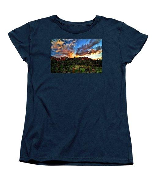 View From The Fence  Women's T-Shirt (Standard Cut) by Saija  Lehtonen