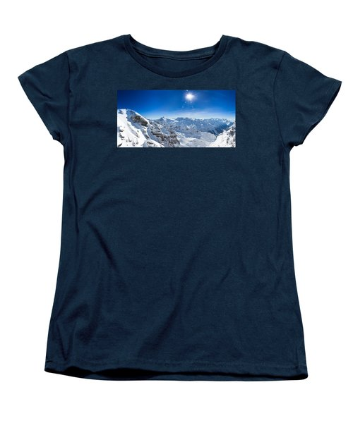View From Titlis Mountain Towards The South Women's T-Shirt (Standard Cut) by Carsten Reisinger