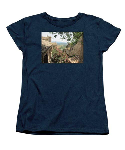 Women's T-Shirt (Standard Cut) featuring the photograph Village Vista by Pema Hou