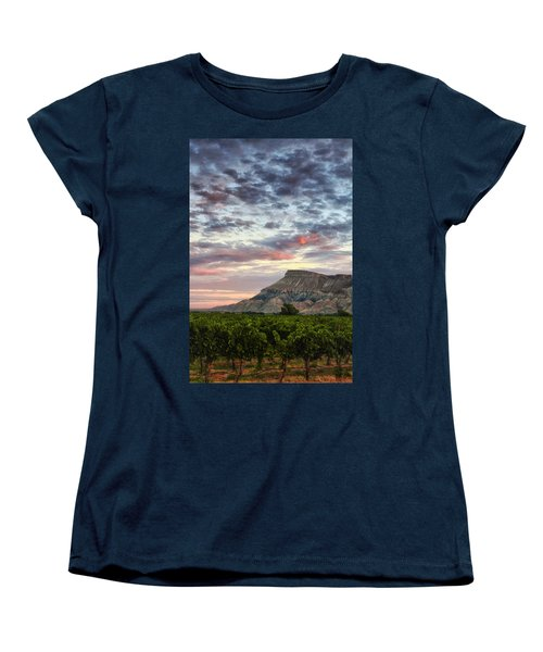 Vineyards And Mt Garfield Women's T-Shirt (Standard Cut) by Ronda Kimbrow