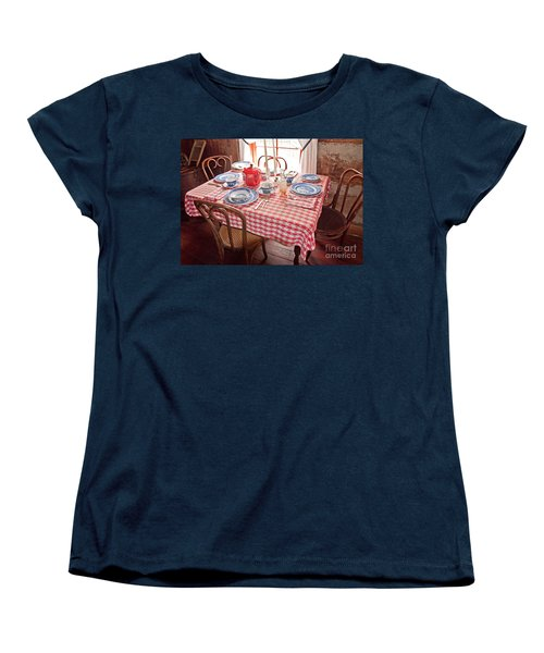 Vintage Kitchen Table Art Prints Women's T-Shirt (Standard Cut) by Valerie Garner