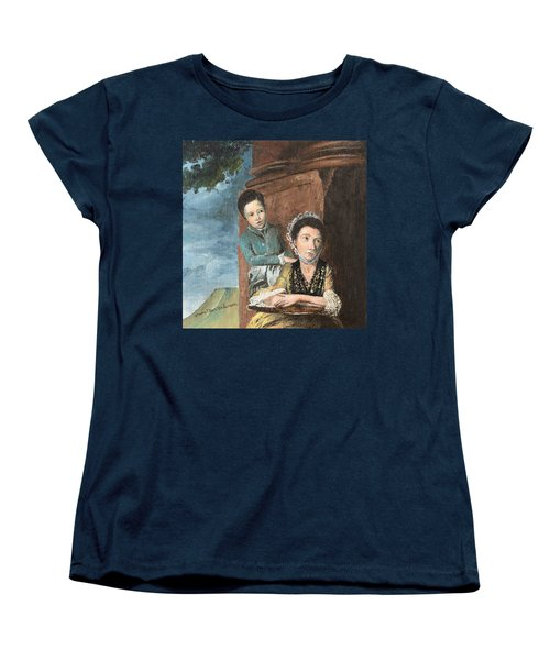 Vintage Mother And Son Women's T-Shirt (Standard Cut) by Mary Ellen Anderson