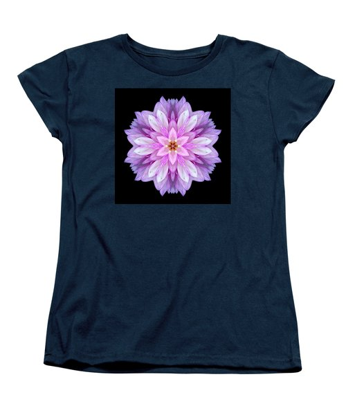 Violet Dahlia I Flower Mandala Women's T-Shirt (Standard Cut) by David J Bookbinder