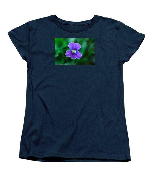 Women's T-Shirt (Standard Cut) featuring the photograph Violet Splendor by Julie Andel
