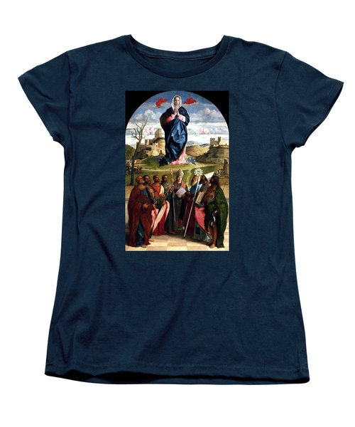 Virgin In Glory With Saints 1515 Giovanni Bellini Women's T-Shirt (Standard Cut) by Karon Melillo DeVega