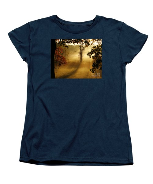 Women's T-Shirt (Standard Cut) featuring the photograph Virginia Sunrise by Carol Lynn Coronios