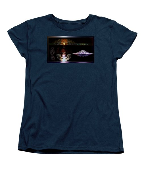 Women's T-Shirt (Standard Cut) featuring the digital art Visitor To Atlantis by Hartmut Jager