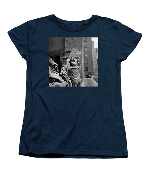 Vivian Maier Self Portrait Probably Taken In Chicago Illinois 1955 Women's T-Shirt (Standard Cut) by David Lee Guss