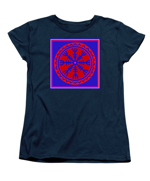 Women's T-Shirt (Standard Cut) featuring the digital art Voodoo Helm Of Awe by Vagabond Folk Art - Virginia Vivier