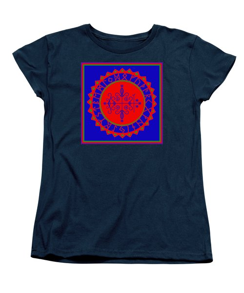 Women's T-Shirt (Standard Cut) featuring the digital art Voodoo Veve  As Above So Below by Vagabond Folk Art - Virginia Vivier