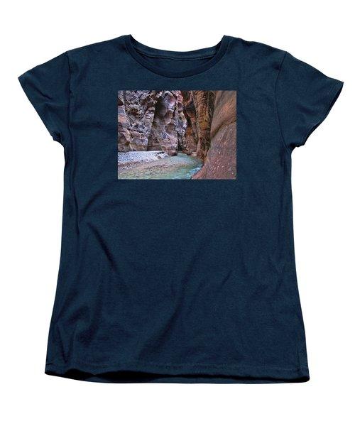 Women's T-Shirt (Standard Cut) featuring the photograph Wadi Mujib by David Gleeson