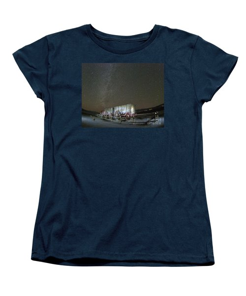 Wagon Train Under Night Sky Women's T-Shirt (Standard Cut) by Juli Scalzi