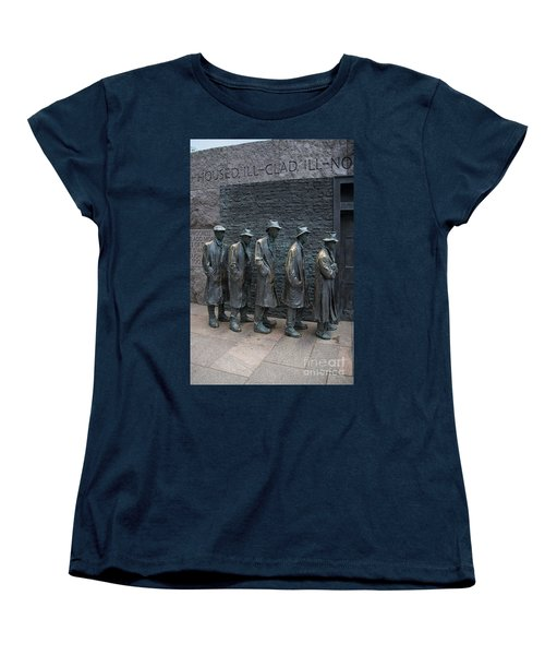 Waiting In Line Women's T-Shirt (Standard Cut) by Carol Ailles