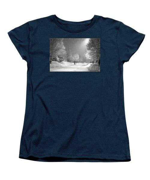 Winter Walk Women's T-Shirt (Standard Cut) by Les Palenik