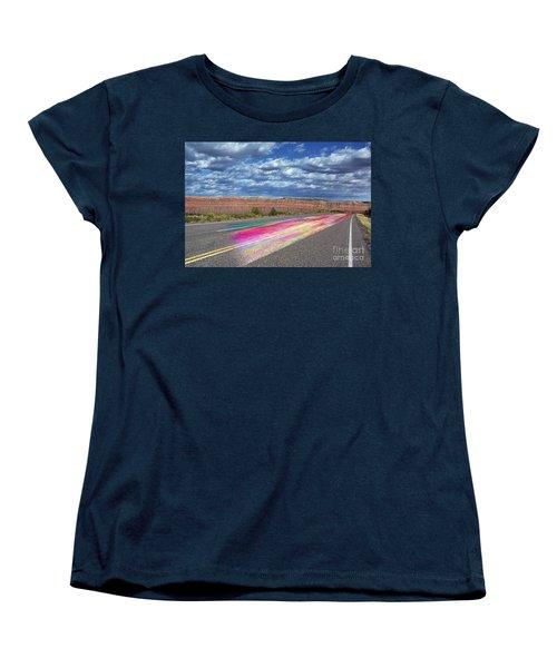 Women's T-Shirt (Standard Cut) featuring the digital art Walking With God by Margie Chapman