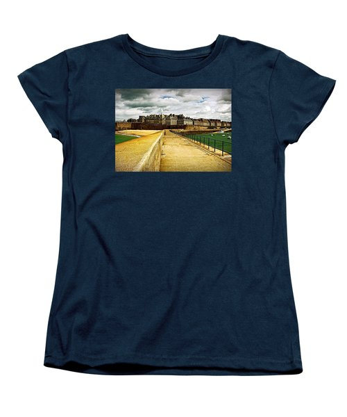 Women's T-Shirt (Standard Cut) featuring the photograph Walkway To Intra Muros by Elf Evans