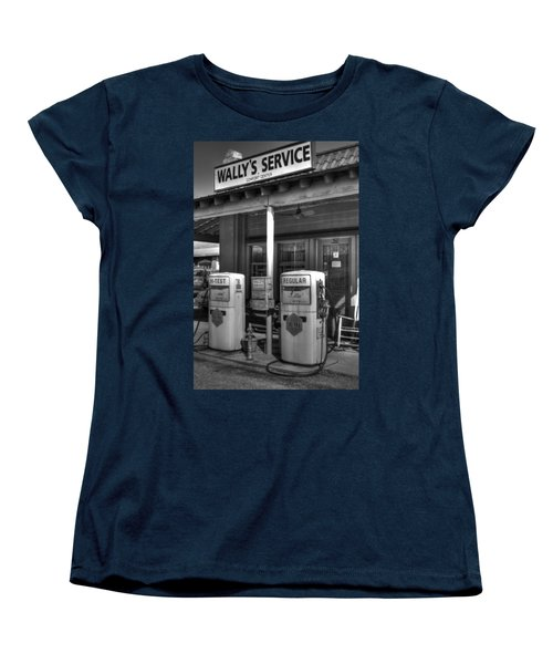 Wally's Service Station Women's T-Shirt (Standard Cut) by Michael Eingle