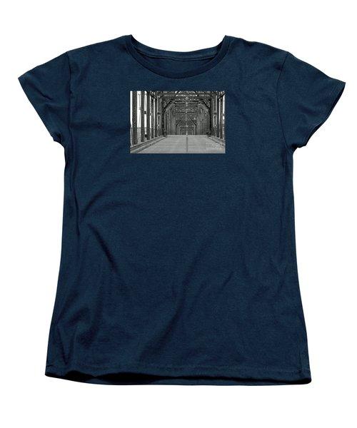 Women's T-Shirt (Standard Cut) featuring the photograph Walnut Street Bridge by Geraldine DeBoer
