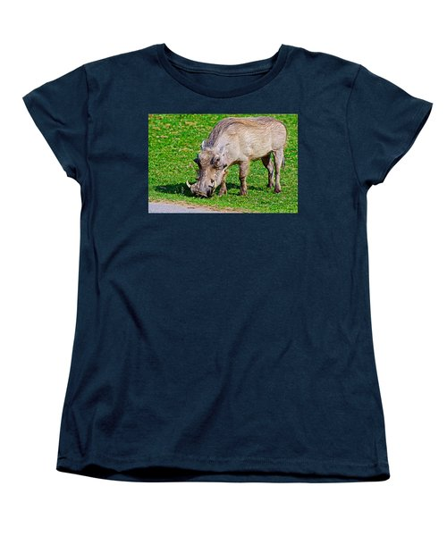Warthog In Addo Elephant Park Near Port Elizabeth-south Africa  Women's T-Shirt (Standard Cut) by Ruth Hager