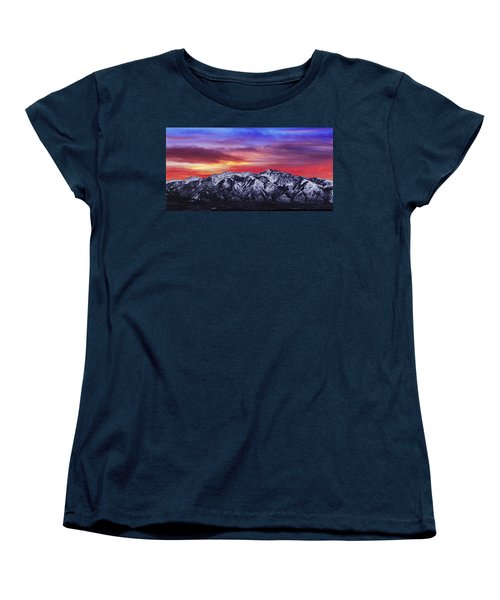 Wasatch Sunrise 2x1 Women's T-Shirt (Standard Cut) by Chad Dutson