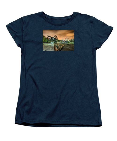 Women's T-Shirt (Standard Cut) featuring the photograph Washington Artillery Park by Tim Stanley