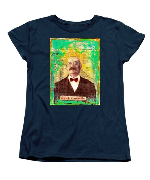 Women's T-Shirt (Standard Cut) featuring the painting Watch Carefully by Desiree Paquette