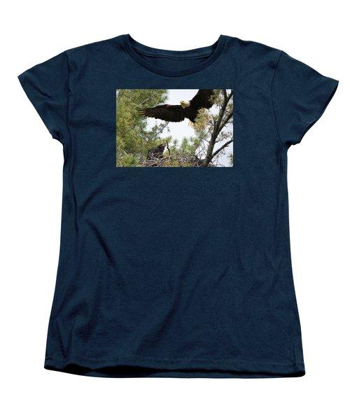 Watch Out Below Women's T-Shirt (Standard Cut) by Bonfire Photography
